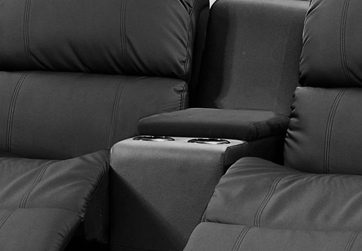 Sofa Mit Relaxfunktion : about SOFA MIT TEA-TABLE LAKOS 2-SITZER KINOSOFA IN SCHWARZ MIT ...