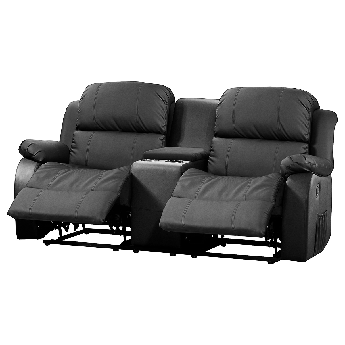 sofa mit tea table lakos 2 sitzer kinosofa in schwarz mit relaxfunktion eur 519 95 picclick de. Black Bedroom Furniture Sets. Home Design Ideas