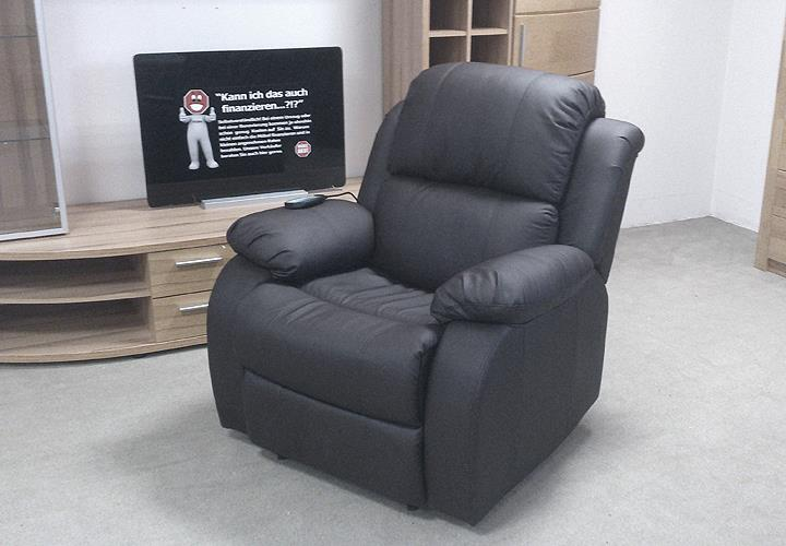 tv sessel lakos relaxsessel schwarz massagesessel. Black Bedroom Furniture Sets. Home Design Ideas