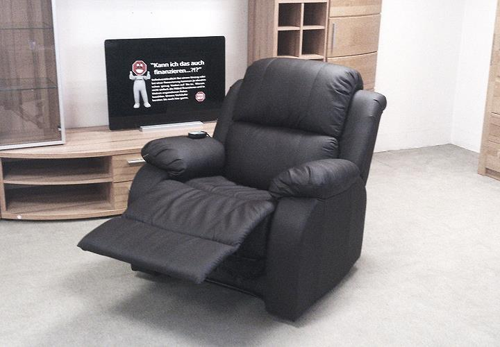 tv sessel lakos relaxsessel schwarz massagesessel funktionssesssel mit heizung ebay. Black Bedroom Furniture Sets. Home Design Ideas
