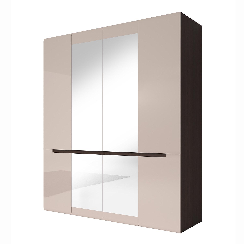 kleiderschrank hektor schrank sonoma eiche dunkel und sand grau hochglanz b 181 ebay. Black Bedroom Furniture Sets. Home Design Ideas