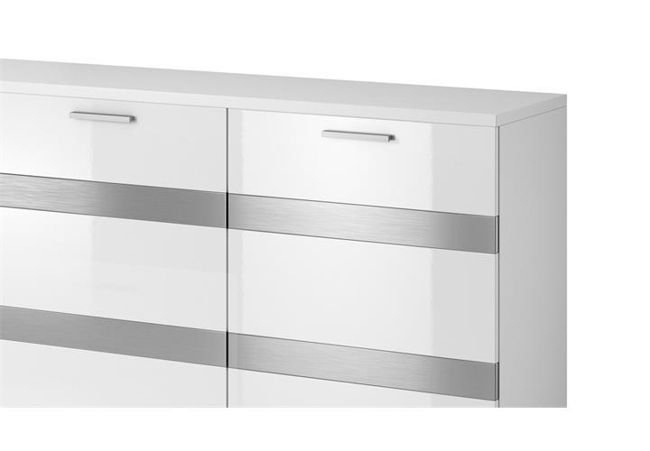 sideboard maxi ea 3 t rige kommode in wei matt mit hochglanz front 180 cm ebay. Black Bedroom Furniture Sets. Home Design Ideas