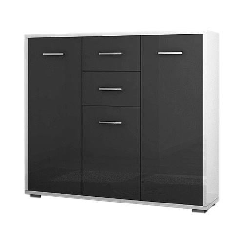highboard soma sideboard in grau und weiss hochglanz ebay. Black Bedroom Furniture Sets. Home Design Ideas