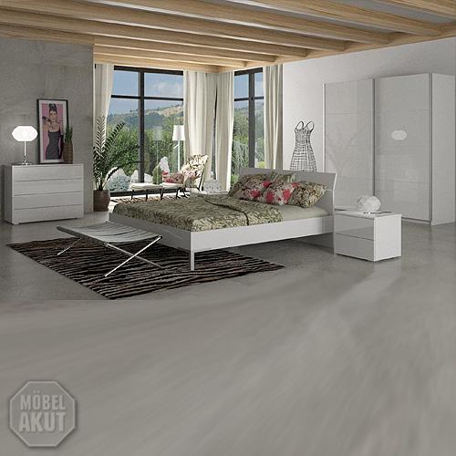 schlafzimmer set privilegio kommode bett schrank unico in wei hochglanz 4 tlg ebay. Black Bedroom Furniture Sets. Home Design Ideas