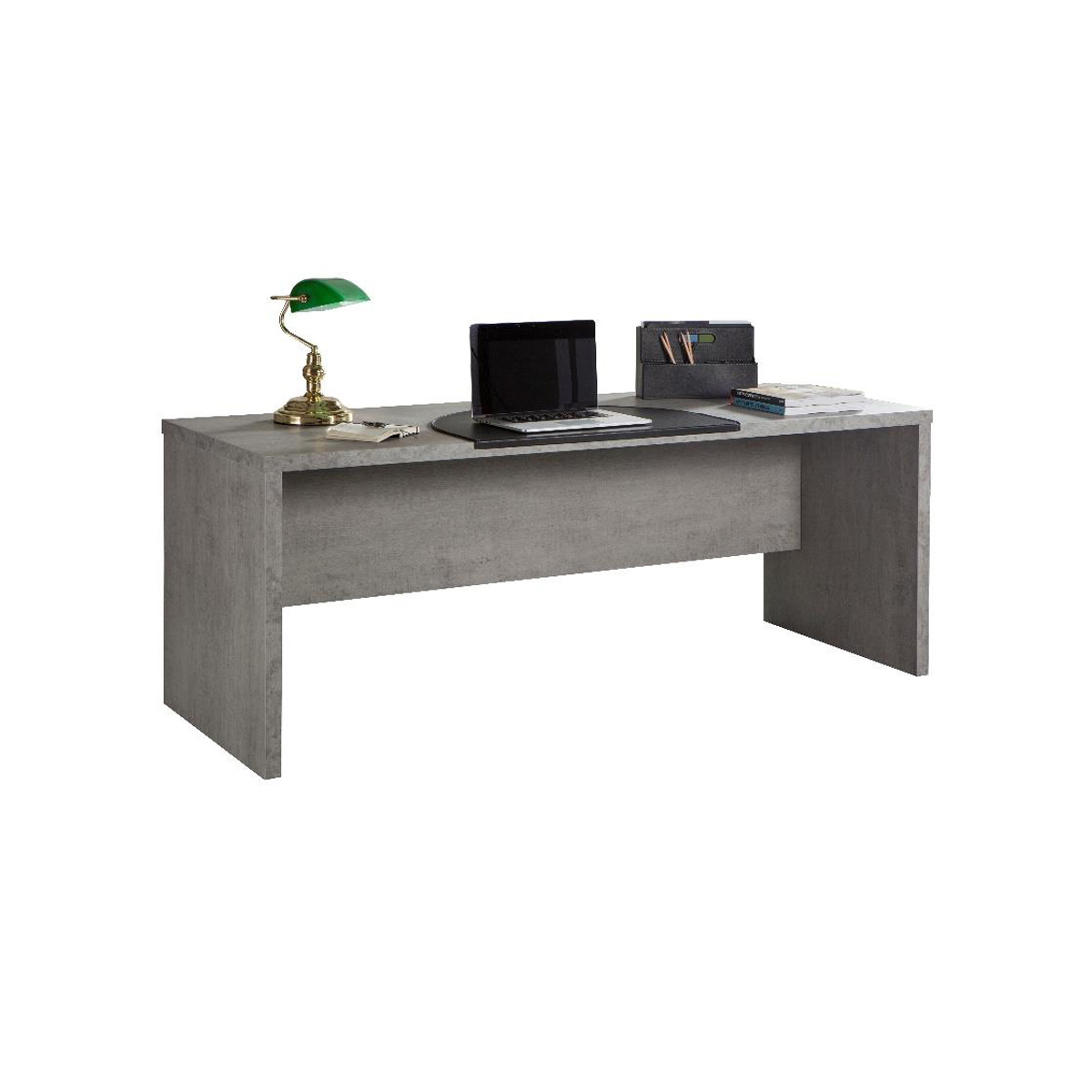schreibtisch pratico computertisch b rotisch pc tisch in beton struktur 180 ebay. Black Bedroom Furniture Sets. Home Design Ideas