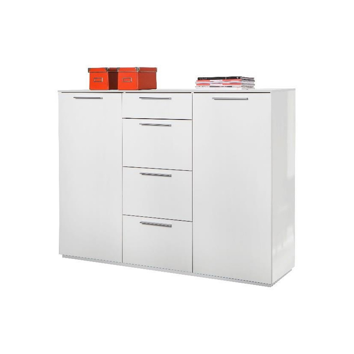 sideboard semplice anrichte kommode schrank in wei hochglanz lack ebay. Black Bedroom Furniture Sets. Home Design Ideas