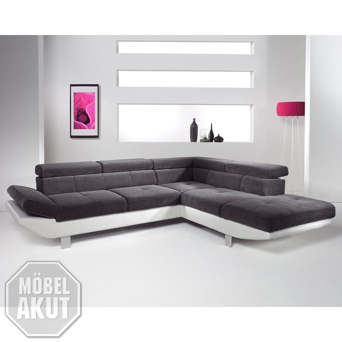 wohnlandschaft whisper ecksofa relaxfunktion wei. Black Bedroom Furniture Sets. Home Design Ideas