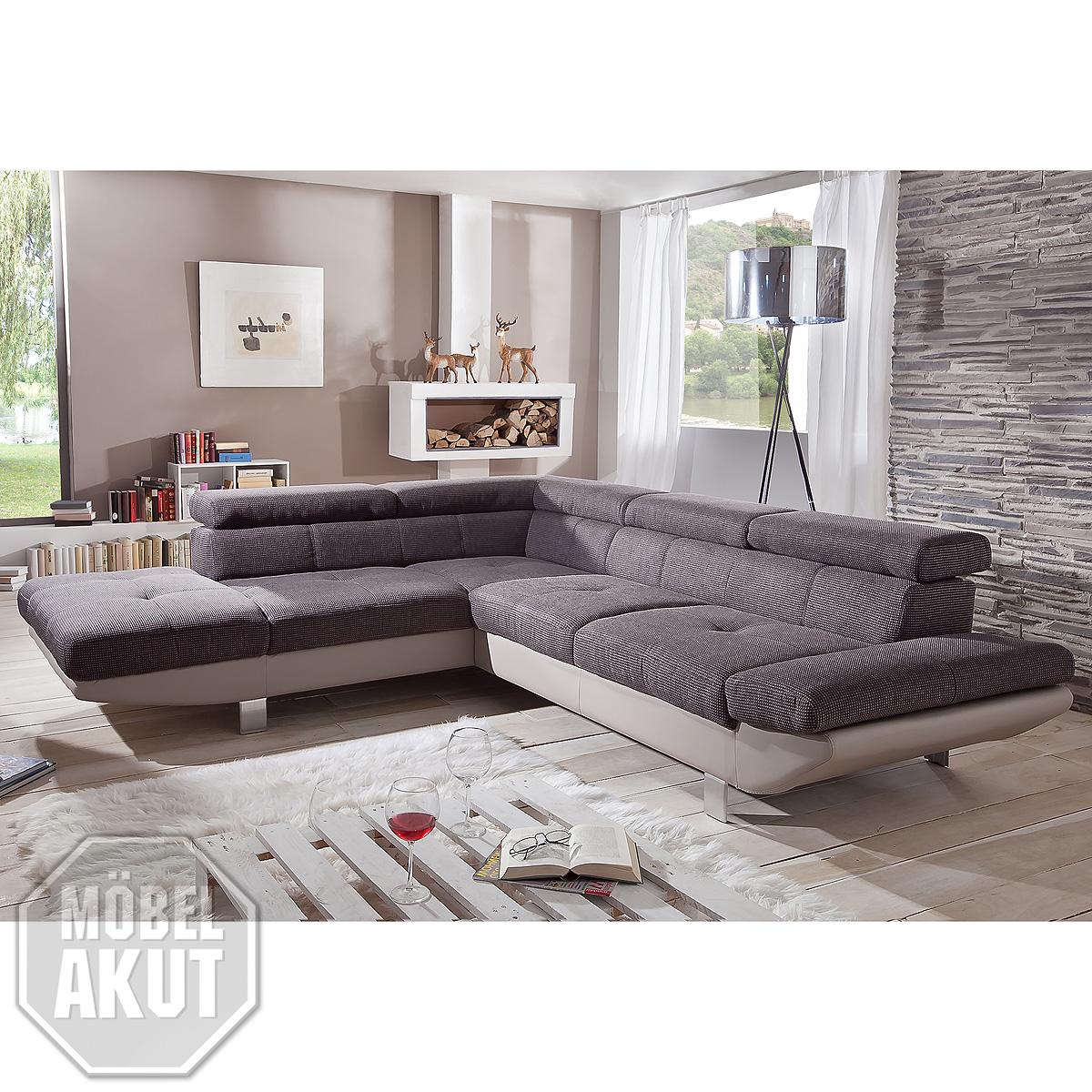 wohnlandschaft whisper ecksofa relaxfunktion mocca sand auswahl rechts links ebay. Black Bedroom Furniture Sets. Home Design Ideas