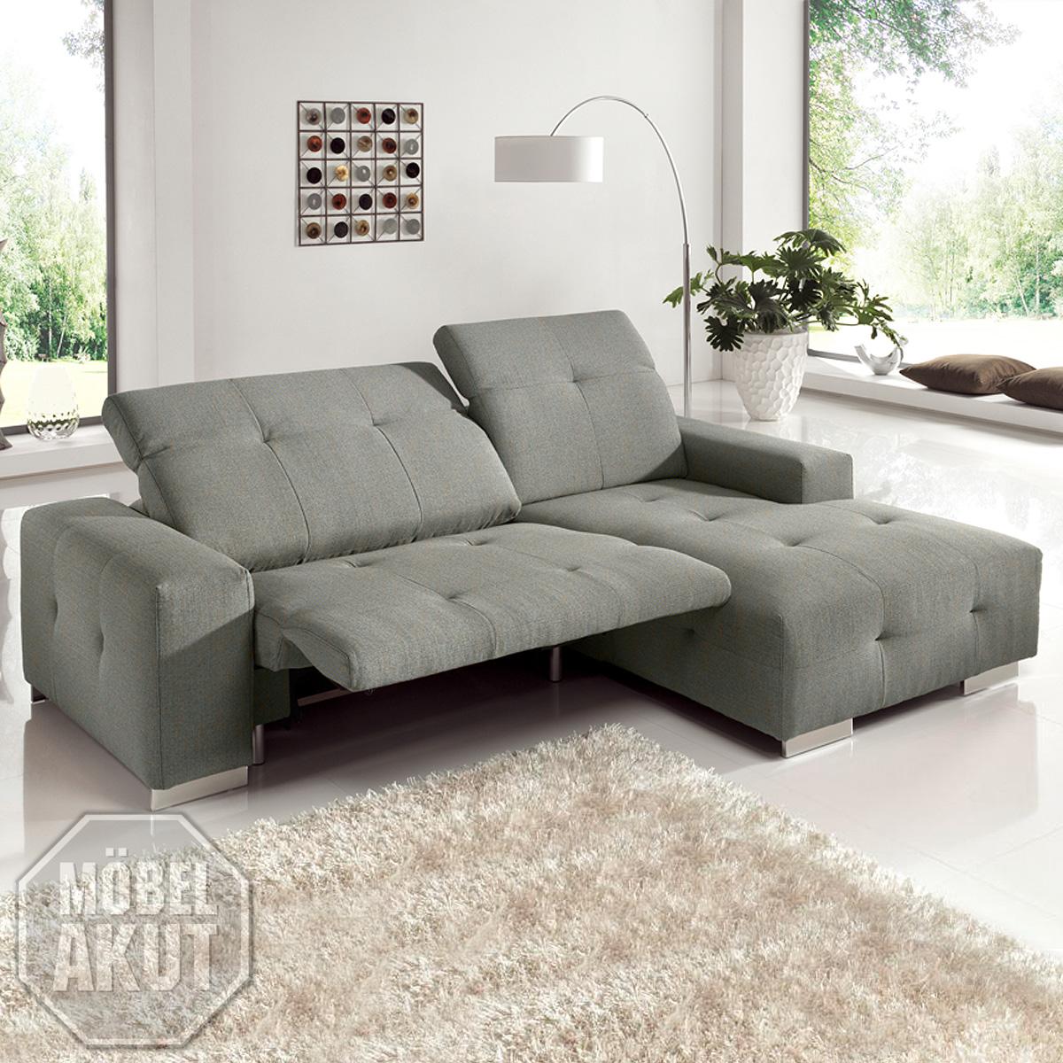 ecksofa francisco sofa grau sand mit elektrischer. Black Bedroom Furniture Sets. Home Design Ideas