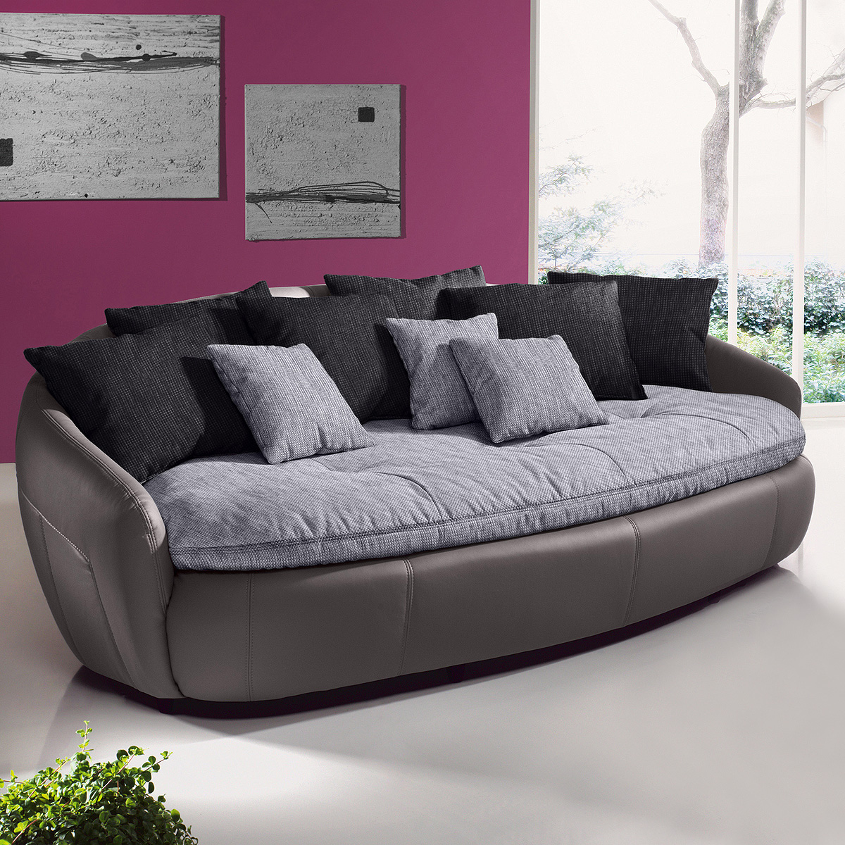 megasofa aruba 2 sofa bigsofa einzelsofa grau petrol schwarz braun farbauswahl. Black Bedroom Furniture Sets. Home Design Ideas