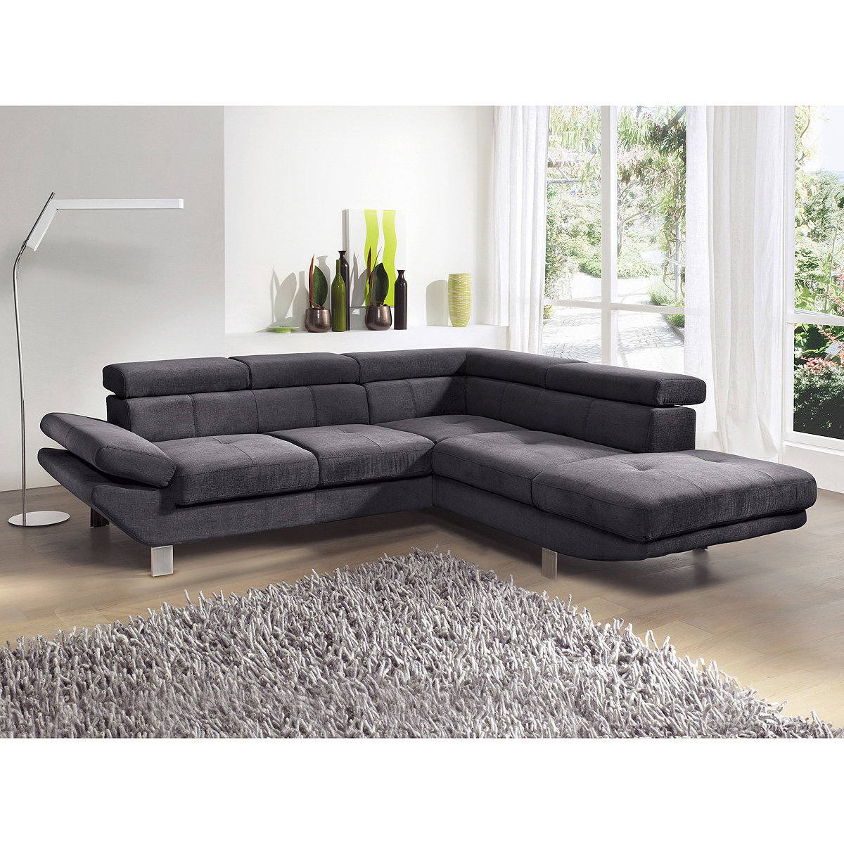 ecksofa carrier wohnlandschaft sofa polsterecke wei. Black Bedroom Furniture Sets. Home Design Ideas