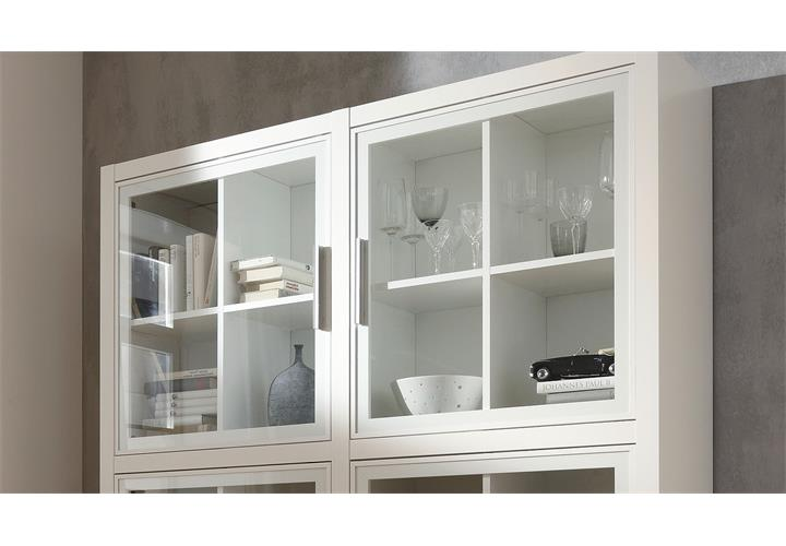 vitrine comos buffet schrank highboard buffetschrank in wei von cs schmal ebay. Black Bedroom Furniture Sets. Home Design Ideas