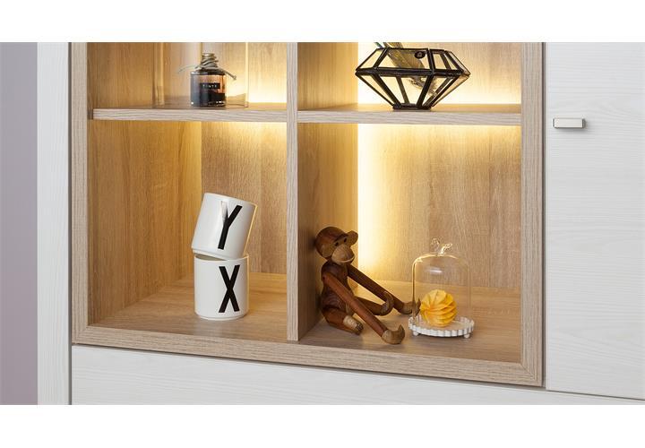 wohnwand 2 tio you anbauwand wohnzimmer sibiu l rche wei eiche von cs schmal eur. Black Bedroom Furniture Sets. Home Design Ideas
