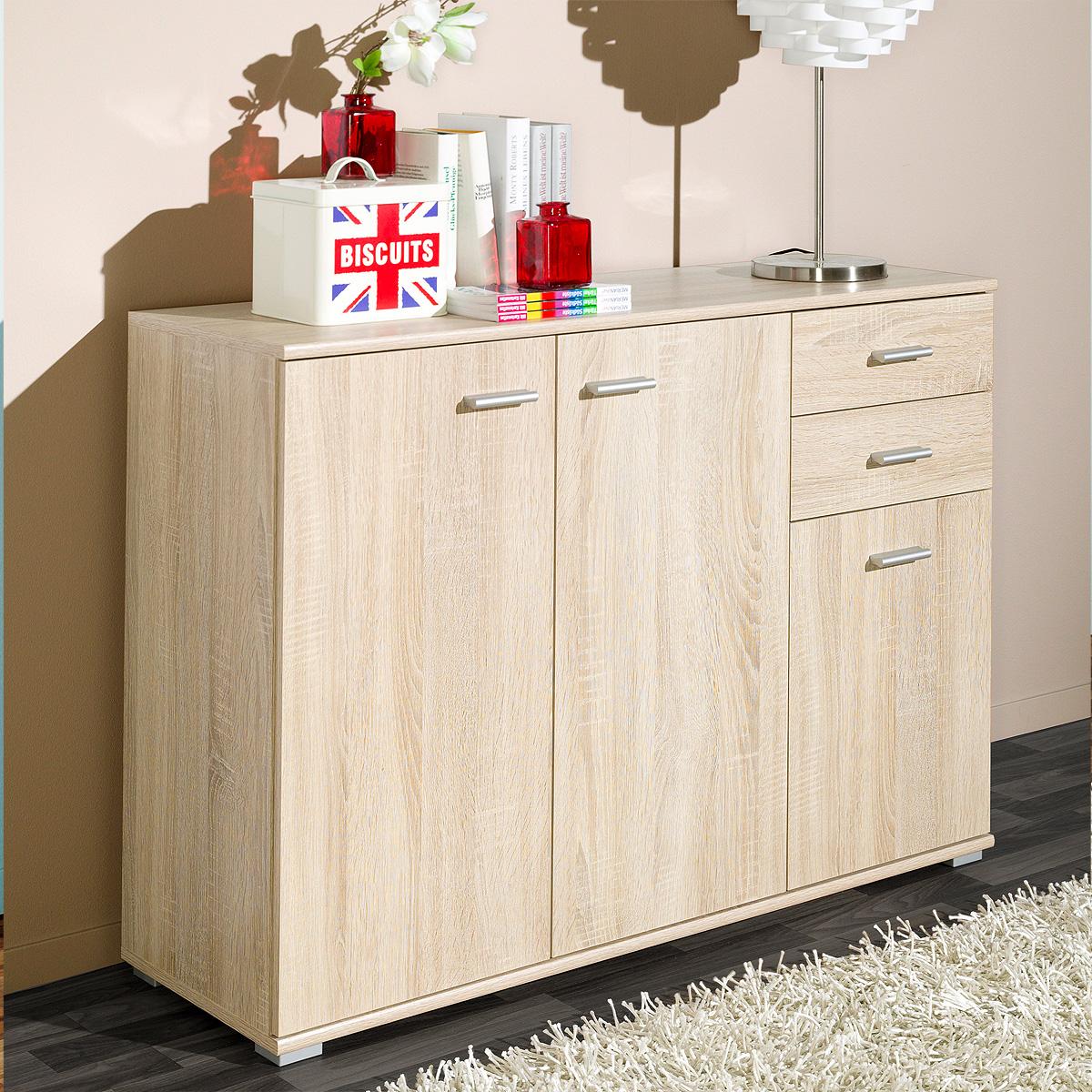 kommode p92 sideboard anrichte schrank wei eiche buche nussbaum von cs schmal ebay. Black Bedroom Furniture Sets. Home Design Ideas