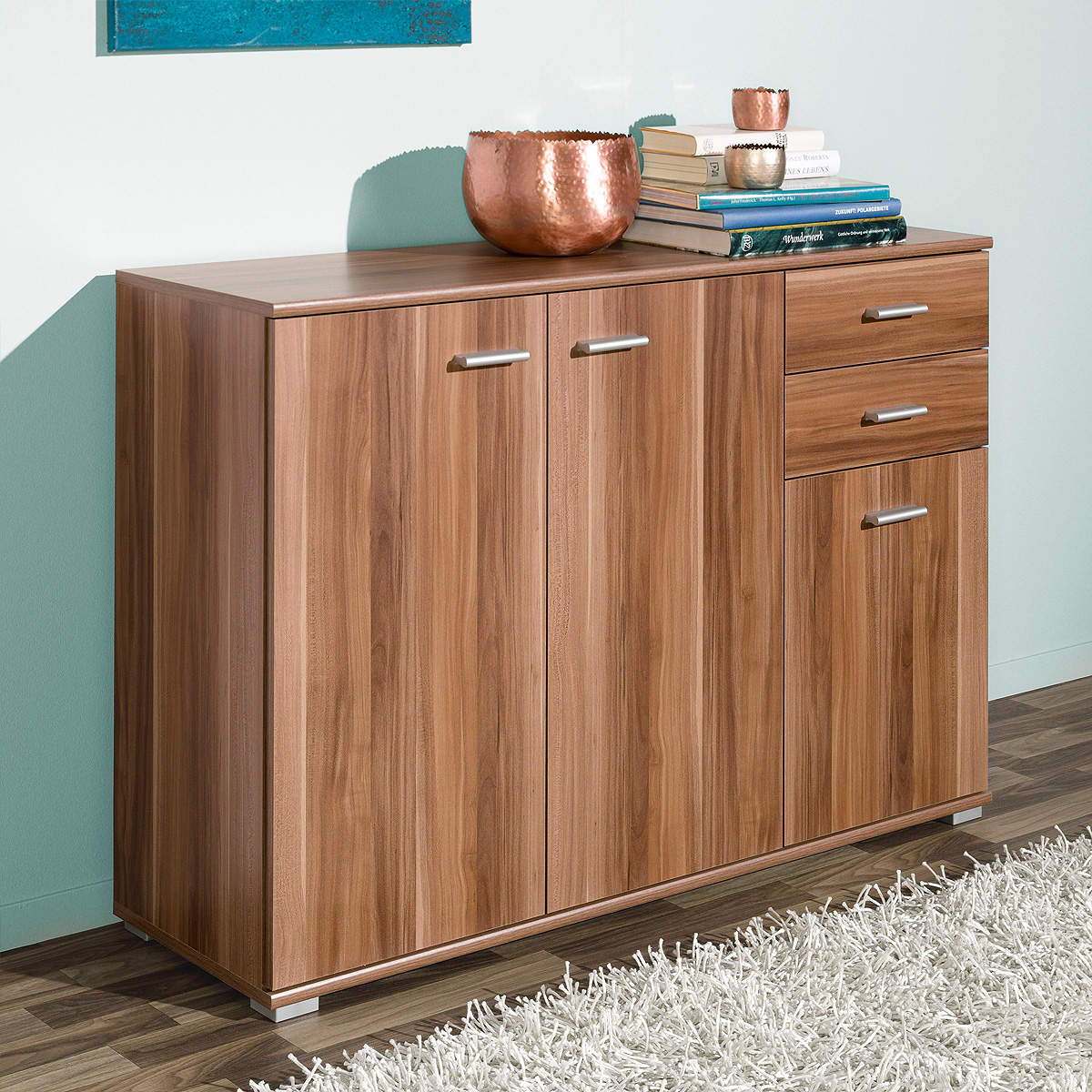 kommode p92 sideboard anrichte schrank wei eiche buche nussbaum von cs schmal ebay. Black Bedroom Furniture Sets. Home Design Ideas