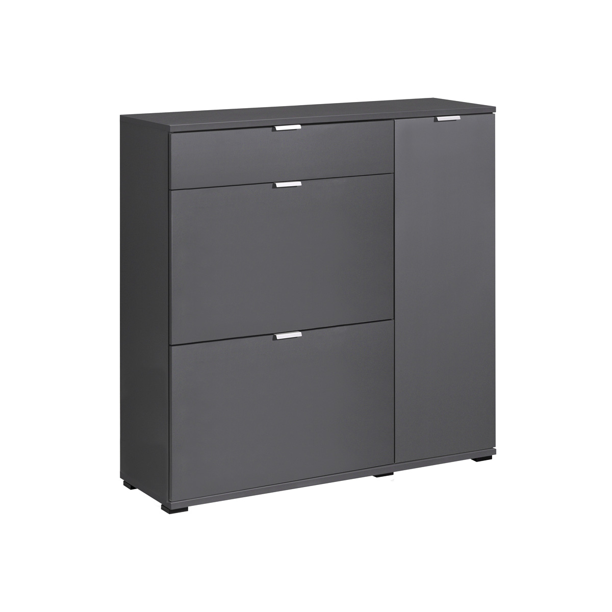 schuhkommode 3 colorida garderobe schuhschrank wei graphit eiche von cs schmal ebay. Black Bedroom Furniture Sets. Home Design Ideas