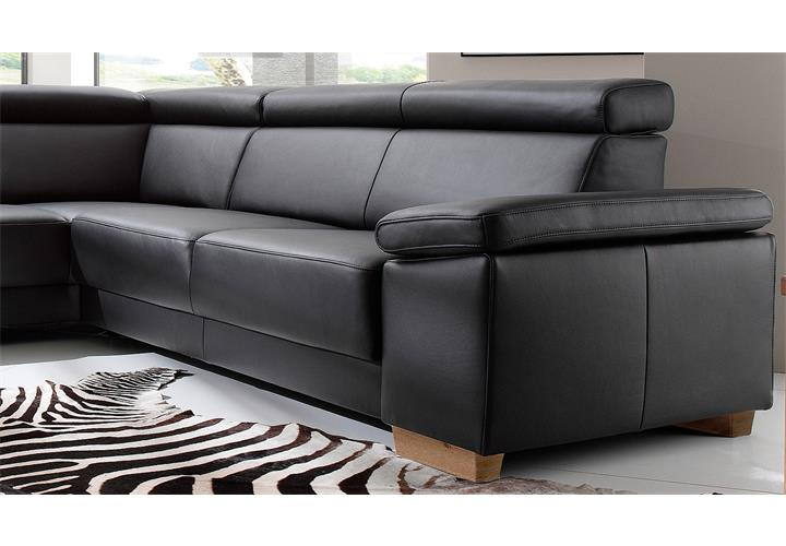 ecksofa santiago sofa wohnlandschaft leder schwarz mit. Black Bedroom Furniture Sets. Home Design Ideas