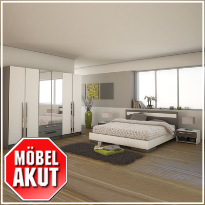 schlafzimmer set aristo in grau wei neu ovp ebay. Black Bedroom Furniture Sets. Home Design Ideas