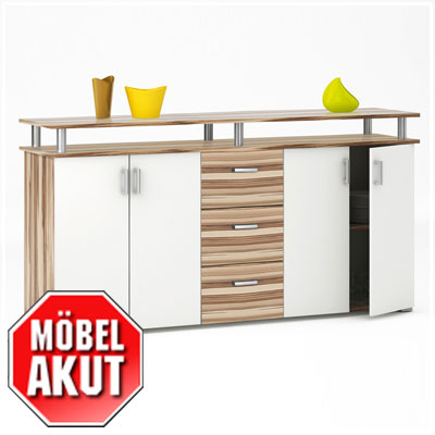 sideboard lios kommode anrichte in baltimore walnuss wei neu ebay. Black Bedroom Furniture Sets. Home Design Ideas