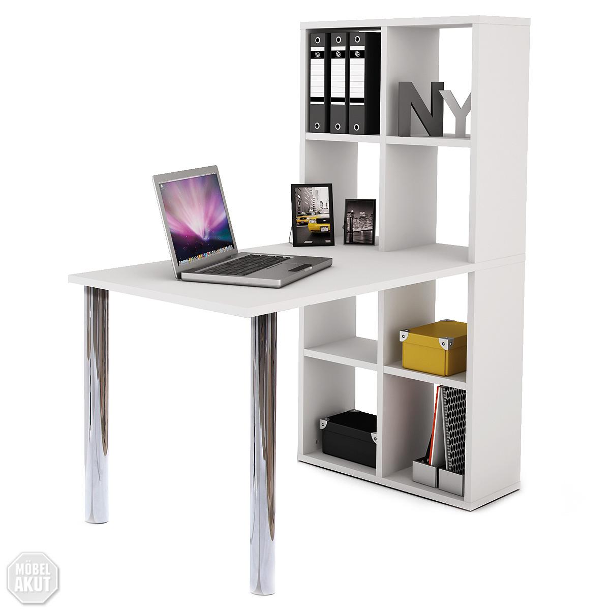 schreibtisch lexington mit regal in wei neu ebay. Black Bedroom Furniture Sets. Home Design Ideas