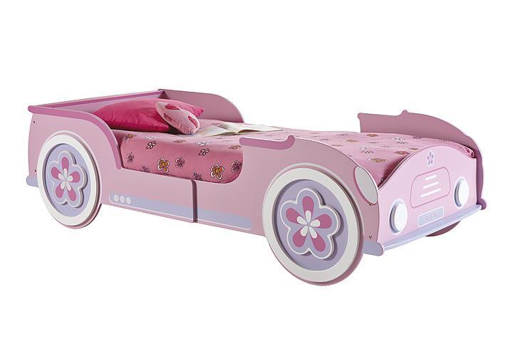 autobett lady car m dchenbett kinderbett kinderzimmerbett in rosa wei 90x200 ebay. Black Bedroom Furniture Sets. Home Design Ideas