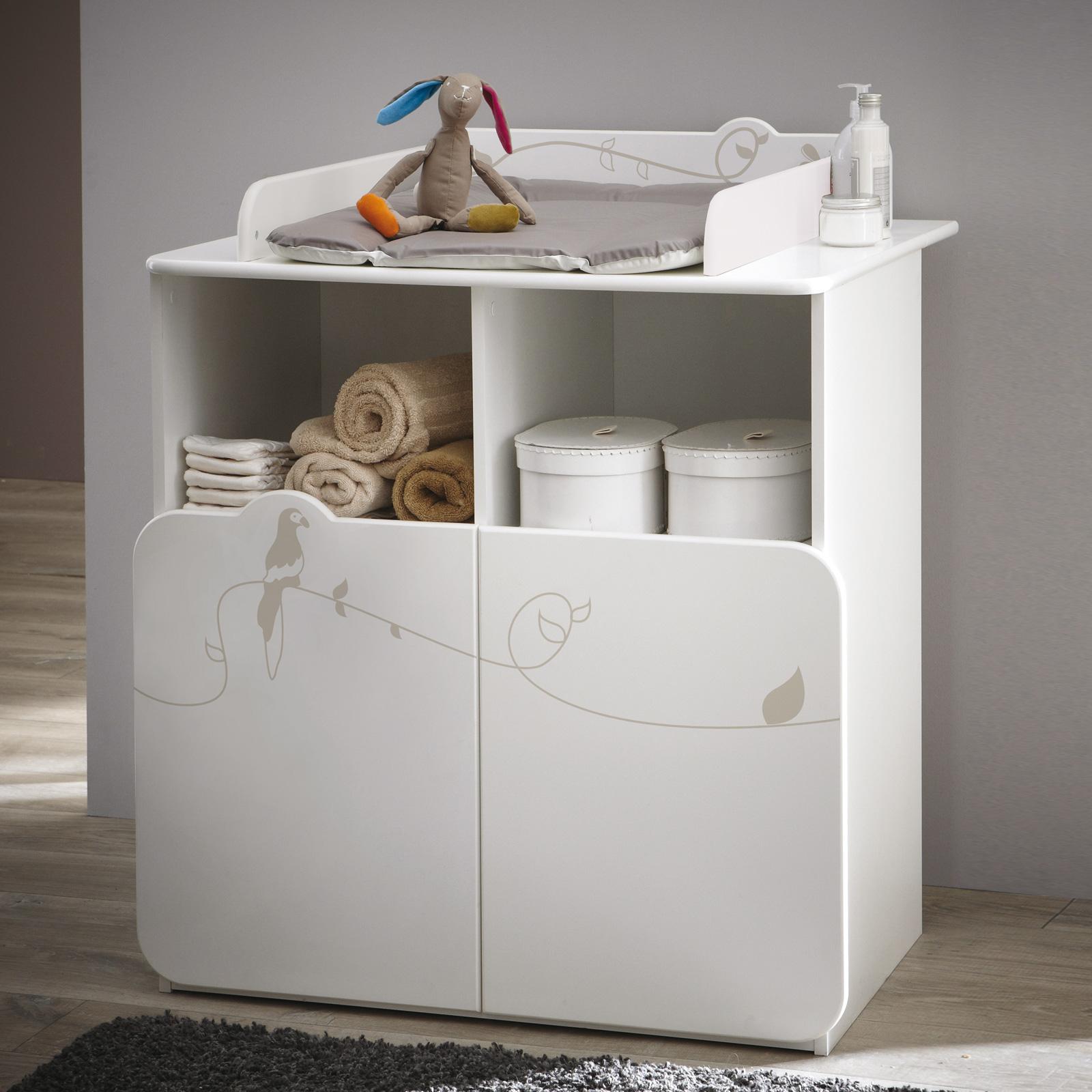 wickeltisch jungle wickelkommode kommode in wei mit. Black Bedroom Furniture Sets. Home Design Ideas