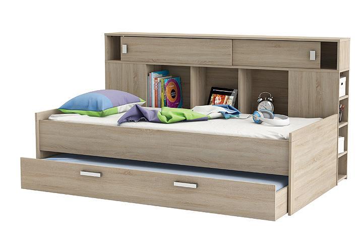 bett sherwood kinderbett jugendzimmerbett sonoma eiche mit. Black Bedroom Furniture Sets. Home Design Ideas