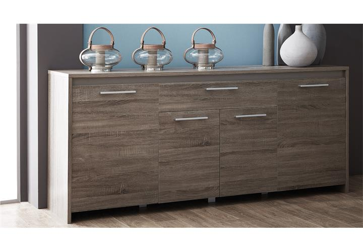 sideboard steen kommode wohnzimmer eiche dunkel basalt b 200 cm ebay. Black Bedroom Furniture Sets. Home Design Ideas