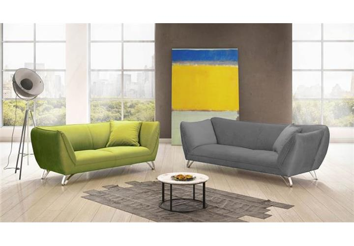 bigsofa maroni sofa 3 sitzer polsterm bel wohnzimmer in grau mit armlehnfunktion ebay. Black Bedroom Furniture Sets. Home Design Ideas