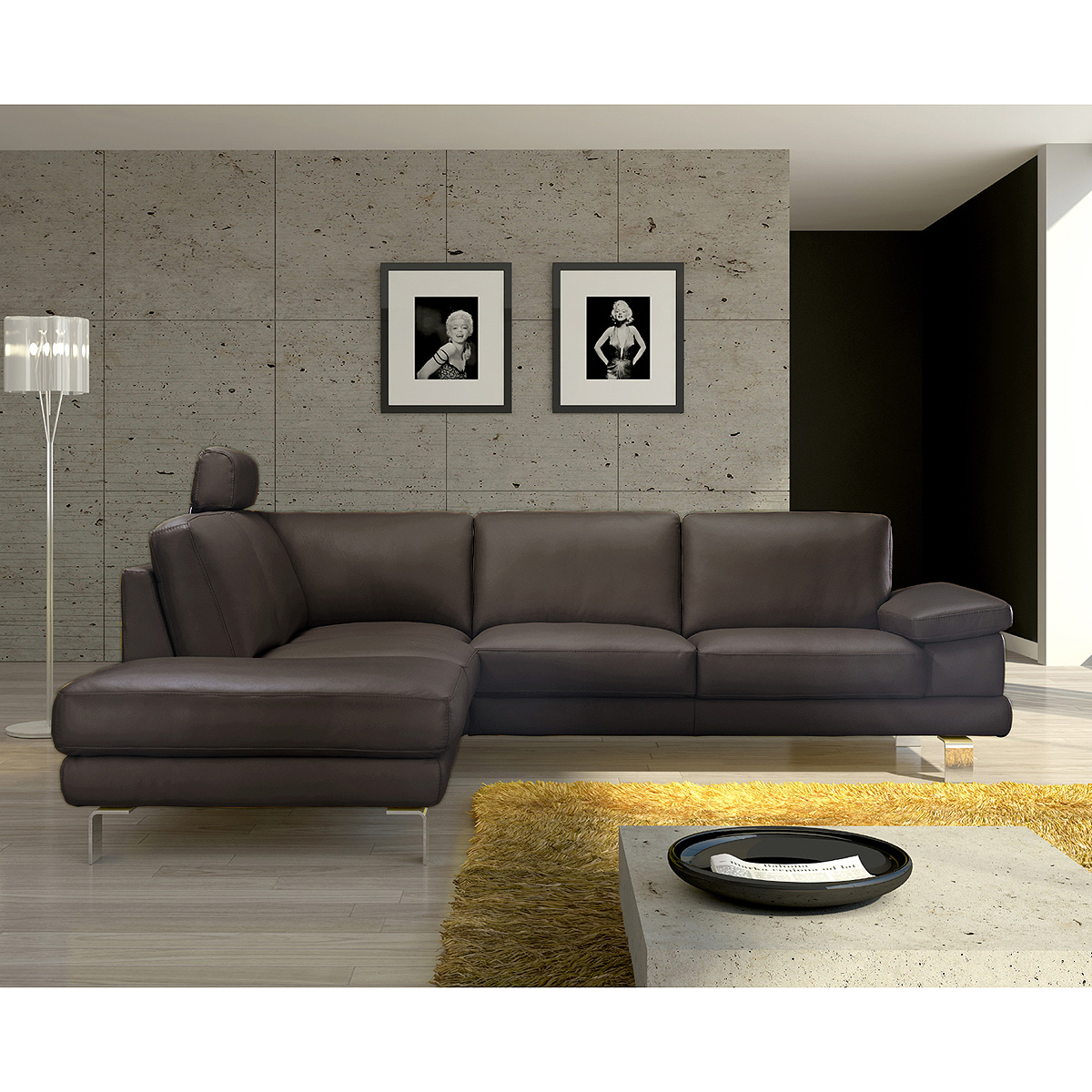 ecksofa mezzos wohnlandschaft sofa polsterm bel in braun. Black Bedroom Furniture Sets. Home Design Ideas