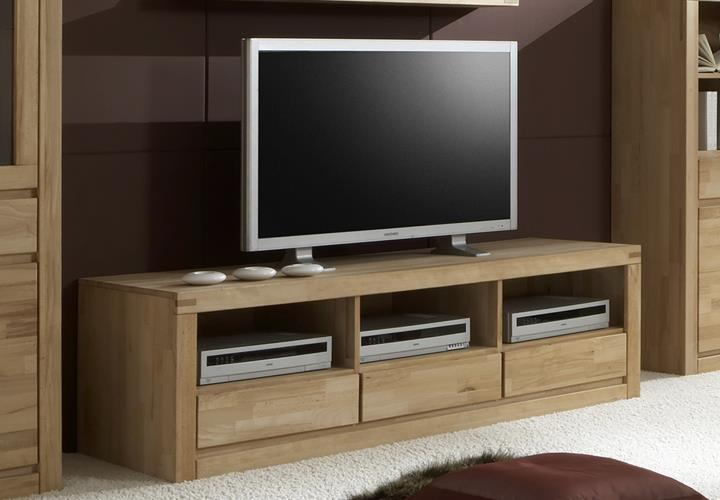 tv kommode delft 6208 wohnzimmer tv board in kernbuche massiv ge lt eur 355 95 picclick de. Black Bedroom Furniture Sets. Home Design Ideas