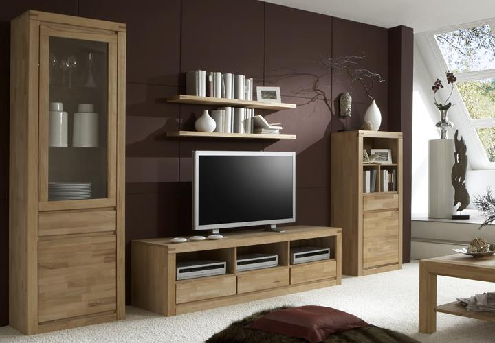 tv kommode delft 6208 wohnzimmer tv board in kernbuche massiv ge lt ebay. Black Bedroom Furniture Sets. Home Design Ideas