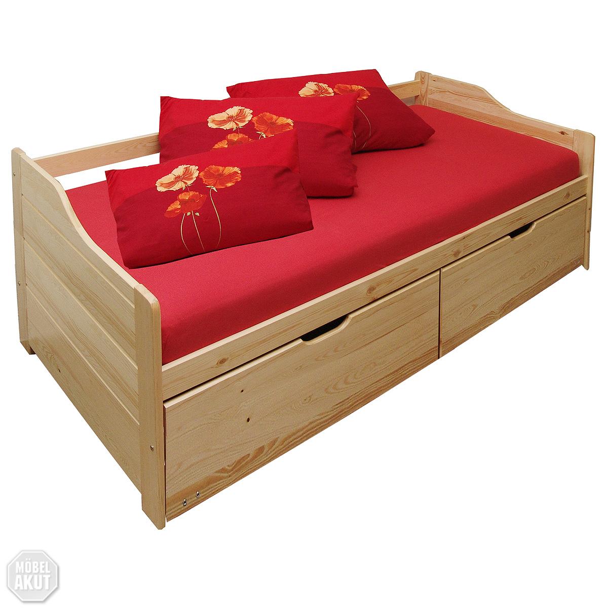 bett lenja kiefer massiv 90 x 200 cm funktionsbett. Black Bedroom Furniture Sets. Home Design Ideas