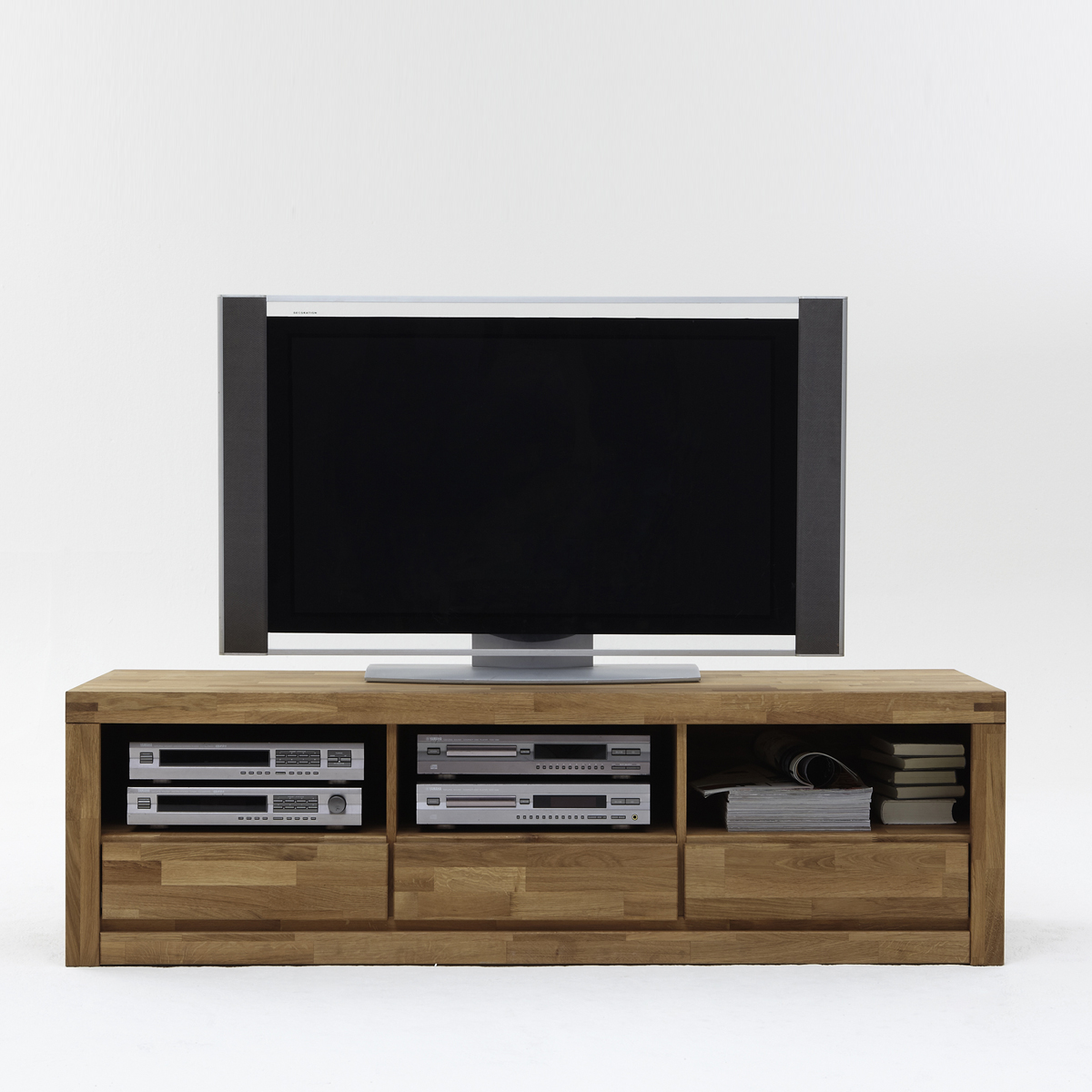 tv kommode delft 2208 wohnzimmer tv board in wildeiche massiv ge lt ebay. Black Bedroom Furniture Sets. Home Design Ideas