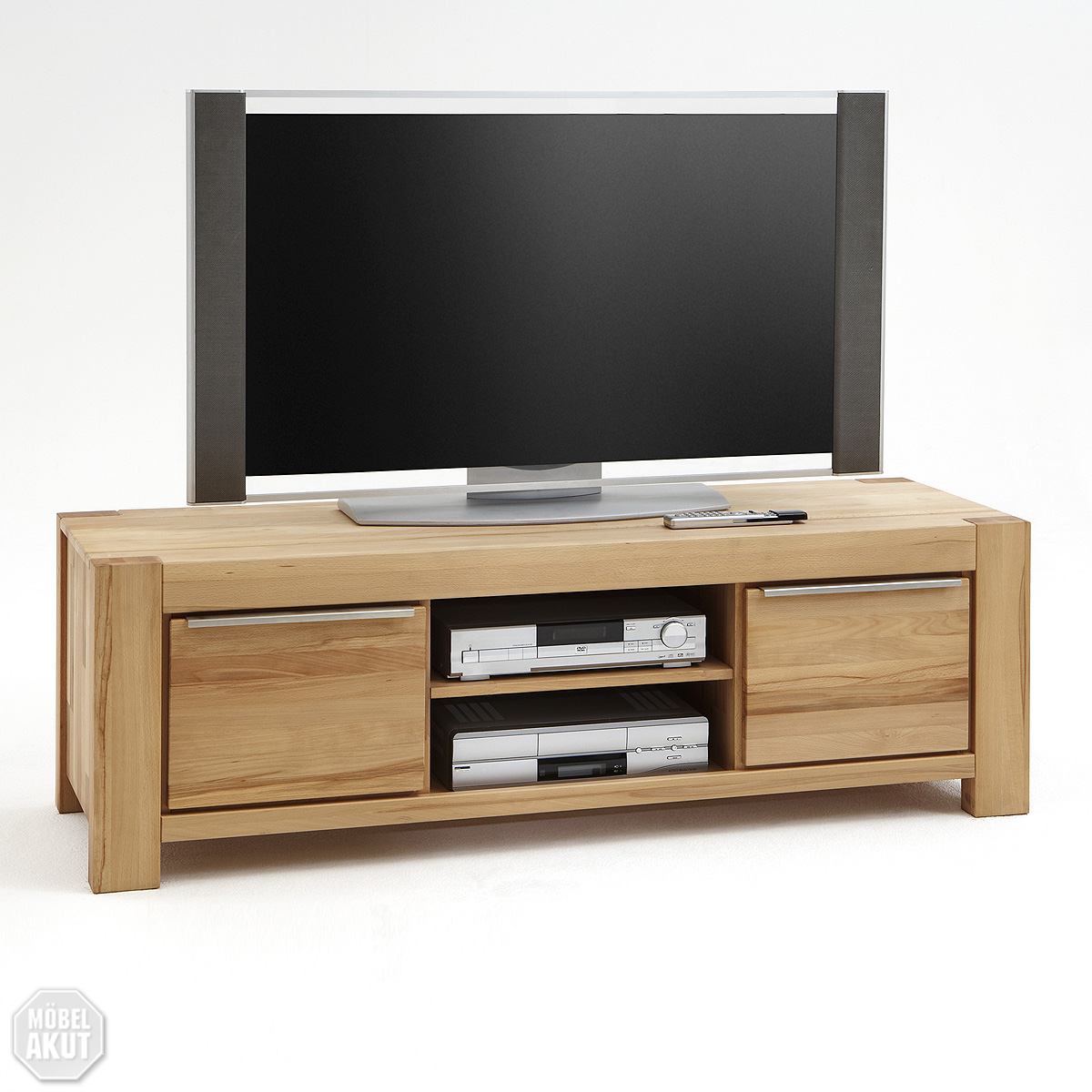 tv board tesa lowboard kommode in kern buche massiv ge lt neu ebay. Black Bedroom Furniture Sets. Home Design Ideas