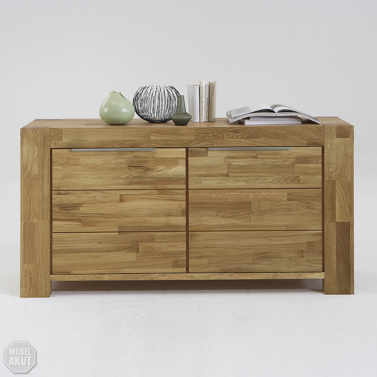 sideboard siva kommode in wild eiche massiv ge lt neu. Black Bedroom Furniture Sets. Home Design Ideas