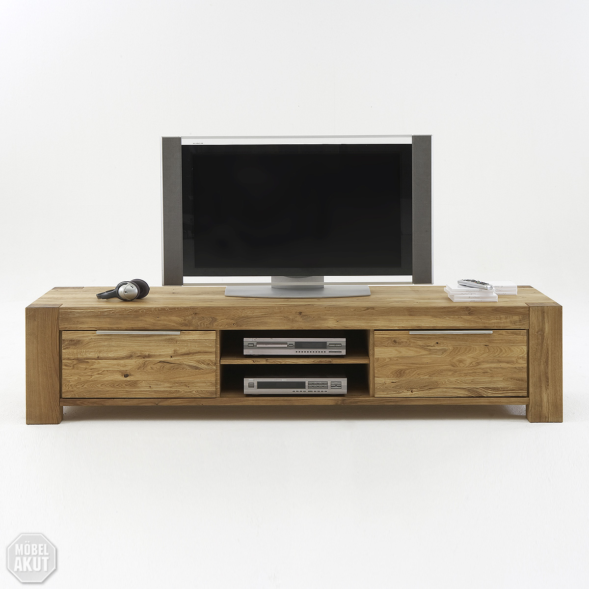 tv board siva lowboard kommode in wild eiche massiv. Black Bedroom Furniture Sets. Home Design Ideas