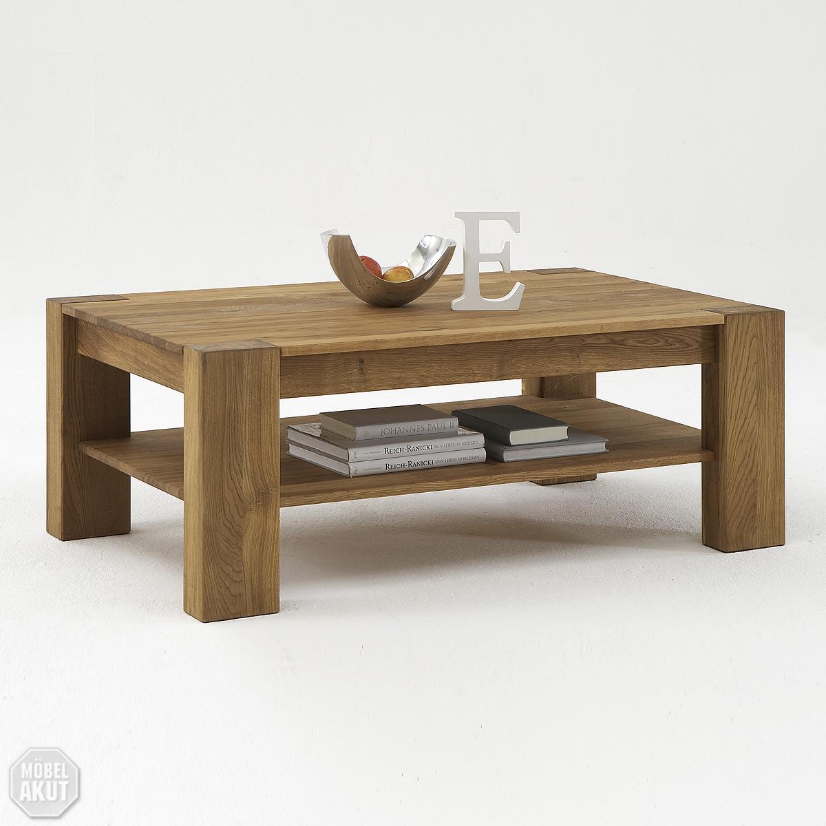 couchtisch siva tisch in wild eiche massiv ge lt neu 120x70 ebay. Black Bedroom Furniture Sets. Home Design Ideas
