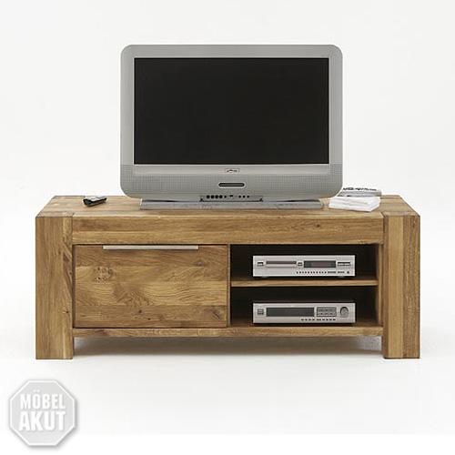 tv board siva lowboard kommode in wild eiche massiv ge lt 125 cm ebay. Black Bedroom Furniture Sets. Home Design Ideas
