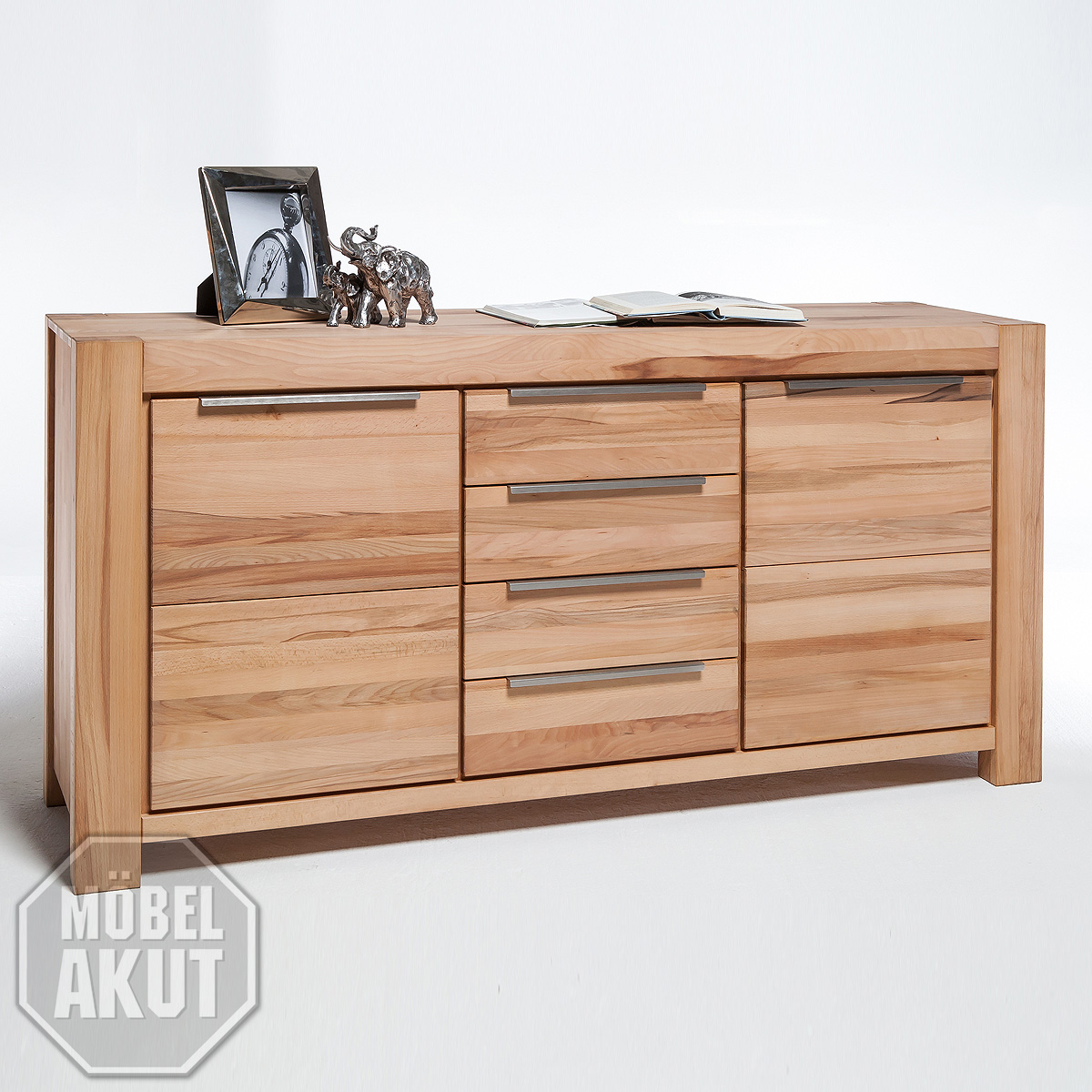 sideboard ii nena anrichte kommode in kern buche massiv ge lt ebay. Black Bedroom Furniture Sets. Home Design Ideas