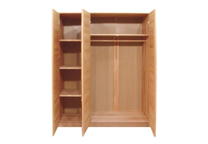 kleiderschrank tollow 3 schrank schlafzimmerschrank kernbuche massiv ge lt 152 ebay. Black Bedroom Furniture Sets. Home Design Ideas