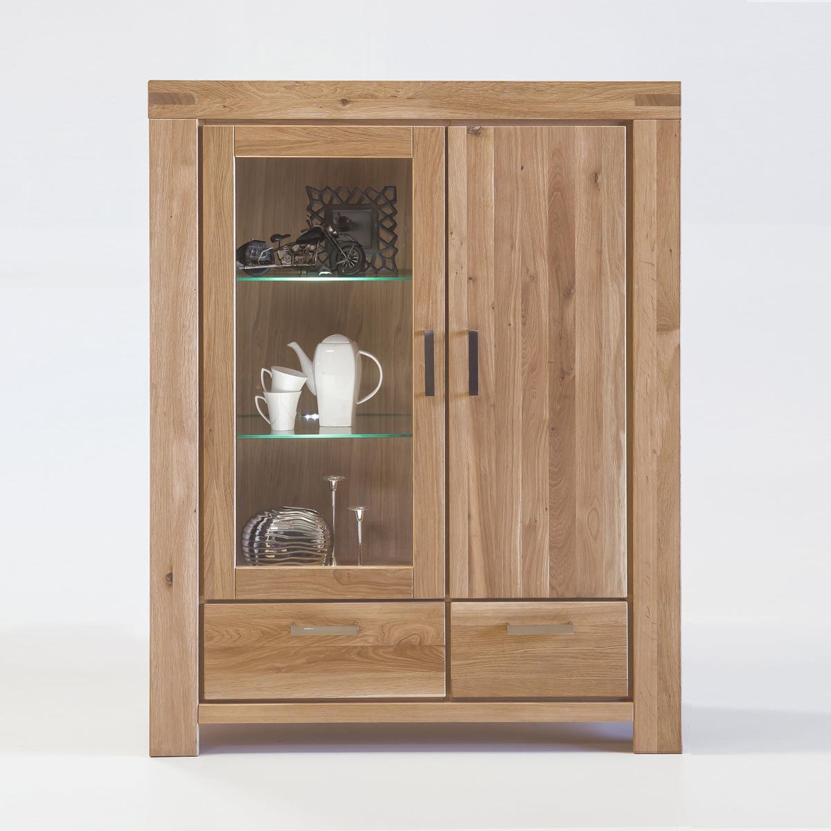 vitrine kira standvitrine buffet auswahl kernbuche. Black Bedroom Furniture Sets. Home Design Ideas
