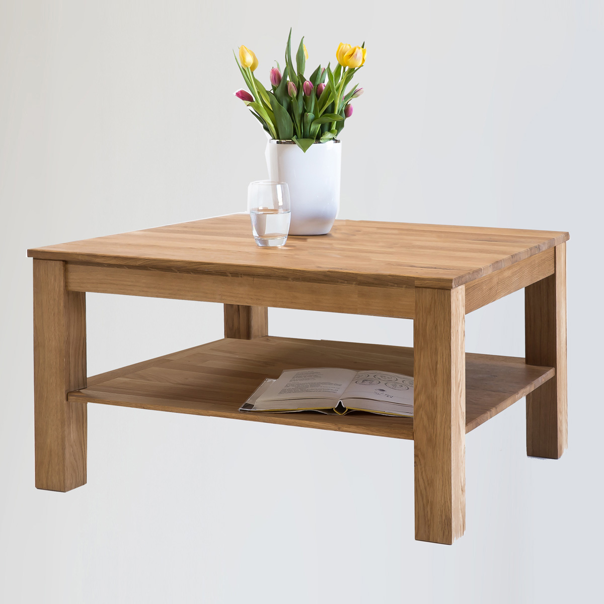 couchtisch kira tisch auswahl kernbuche wildeiche massiv ge lt bianco 70x70 ebay. Black Bedroom Furniture Sets. Home Design Ideas