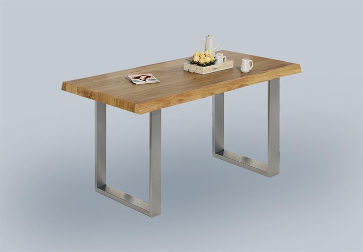 Esstisch Massiv Weiß Edelstahl : Möbel & Wohnen > Möbel > Tische > Esstische & Küchentische