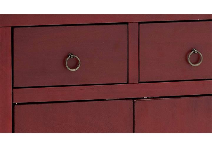 schrank kommode in rot mit schubk sten asiatischer stil 70 cm breit 4. Black Bedroom Furniture Sets. Home Design Ideas