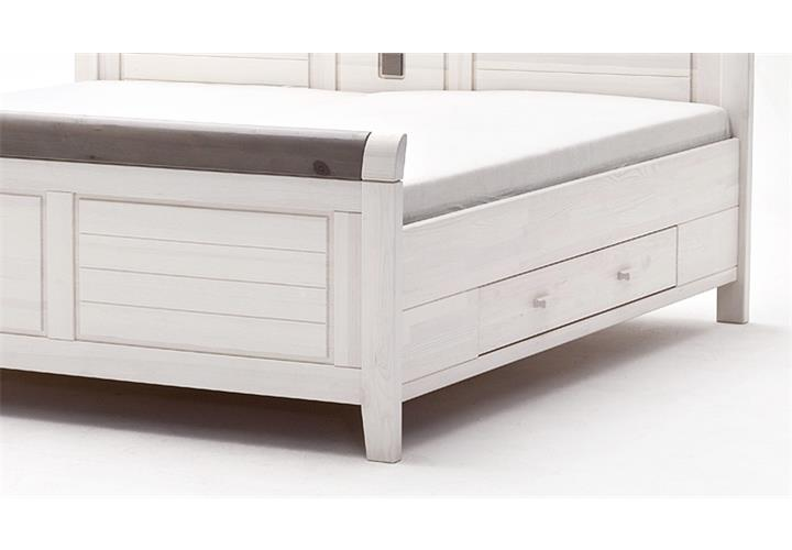 bett malm bettgestell in kiefer massiv wei und lava grau verschiedene gr en ebay. Black Bedroom Furniture Sets. Home Design Ideas