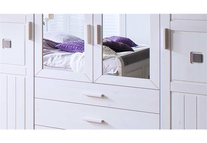 kleiderschrank malm kiefer massiv wei und lava schlafzimmer dreht renschrank ebay. Black Bedroom Furniture Sets. Home Design Ideas