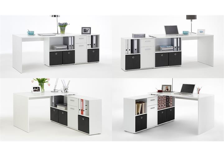 schreibtisch lex winkelkombination ecktisch tisch b rotisch in wei ebay. Black Bedroom Furniture Sets. Home Design Ideas