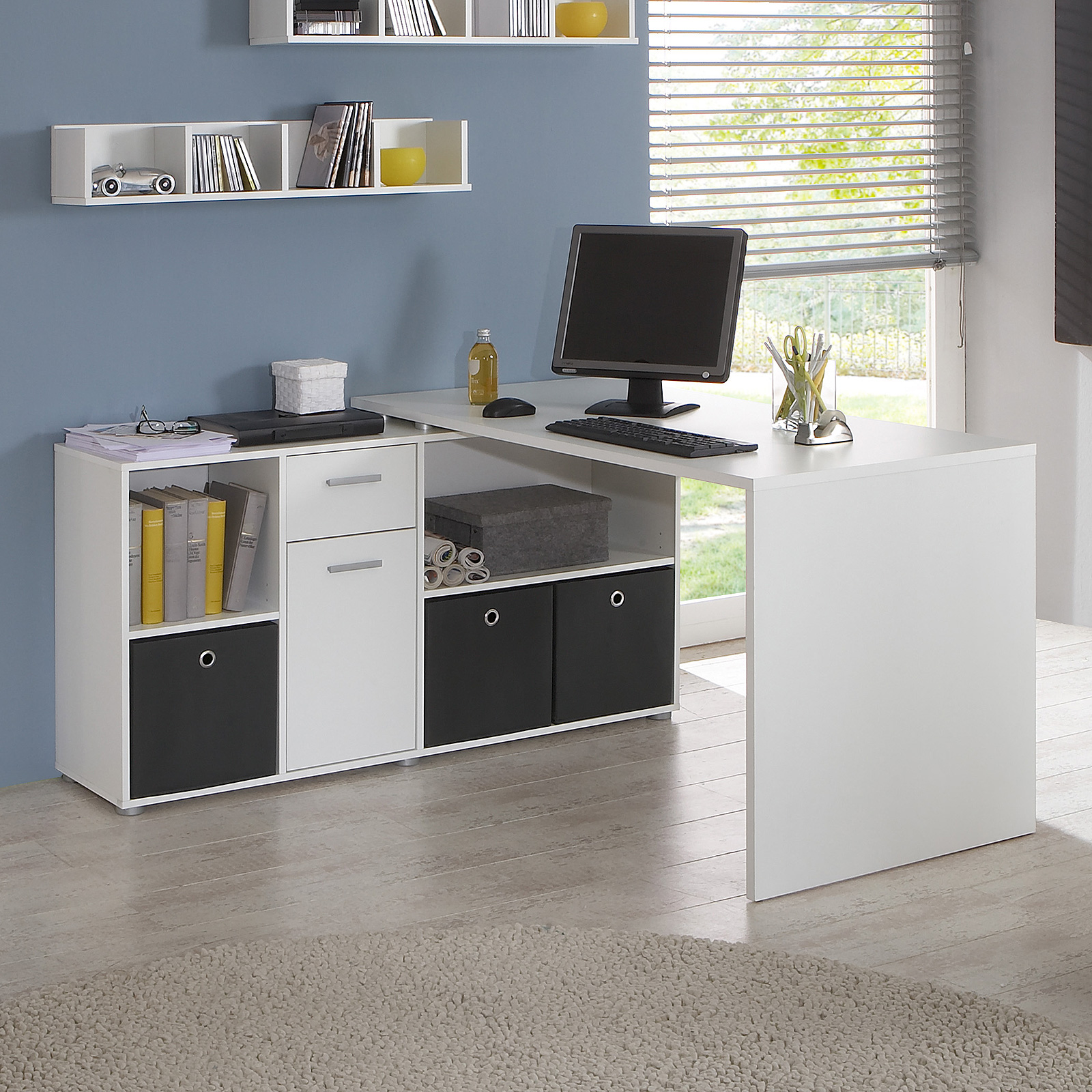 schreibtisch lex winkelkombination ecktisch tisch b rotisch in wei ebay. Black Bedroom Furniture Sets. Home Design Ideas