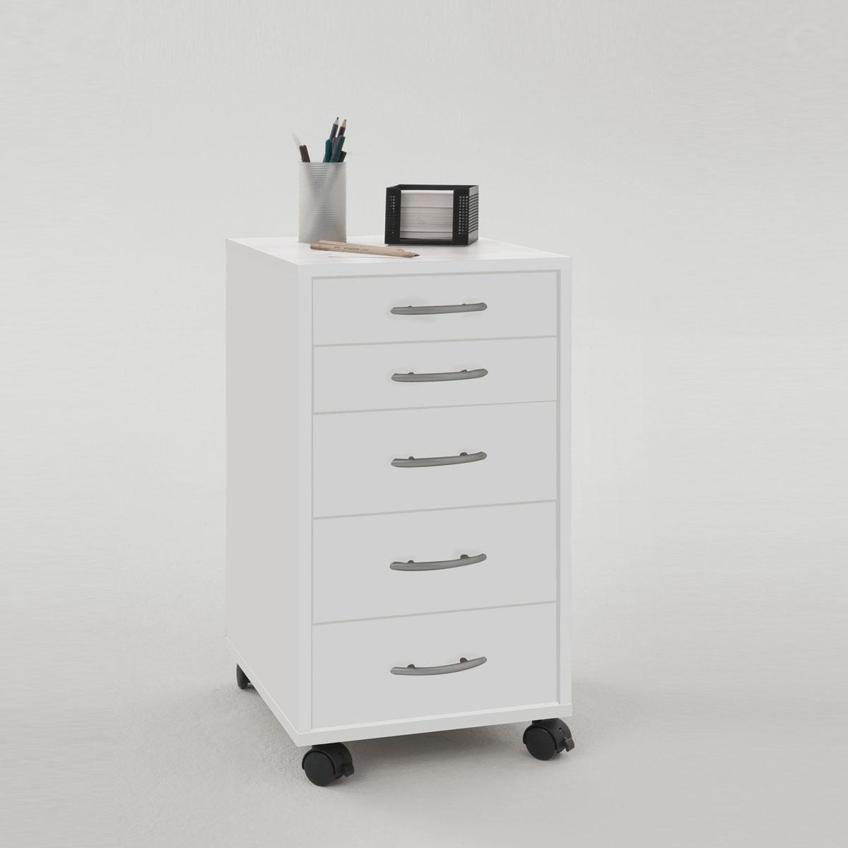 rollcontainer freddy b rocontainer rollschrank rollwagen in wei ebay. Black Bedroom Furniture Sets. Home Design Ideas